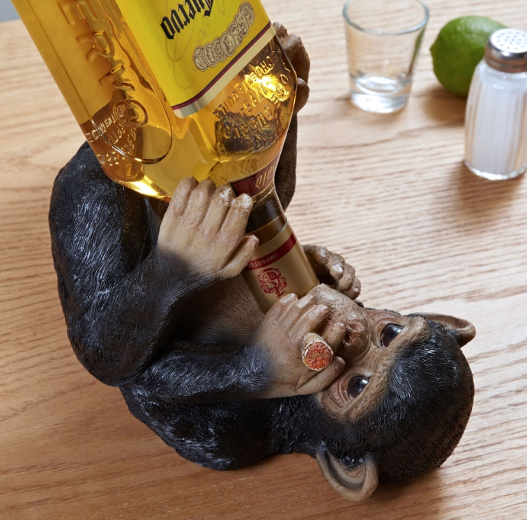 Drunken Monkey Wine Bottle Holder
