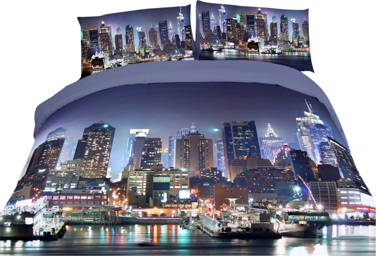 Night City Themed Duvet Cover Set