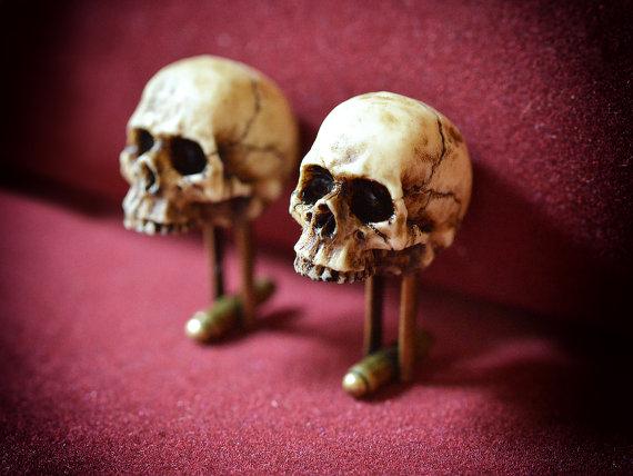 Victorian Skull Cufflinks