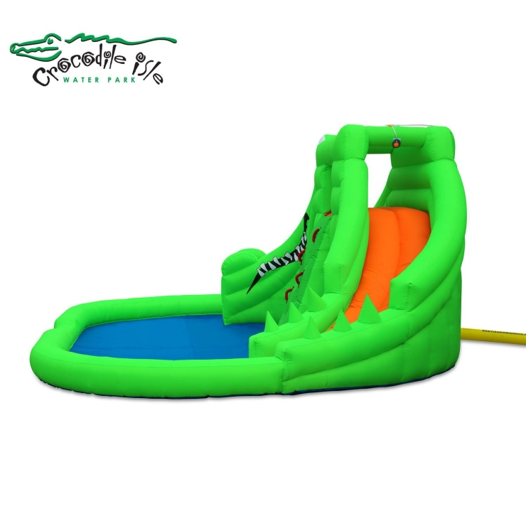Blast Zone Crocodile Isle Inflatable water Park with Dual Slides