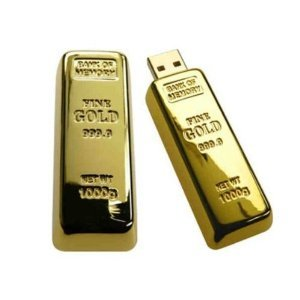 32GB Gold Bar USB Flash Drive