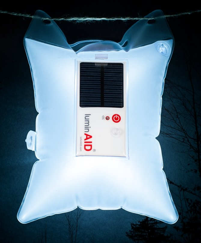 Inflatable light bag