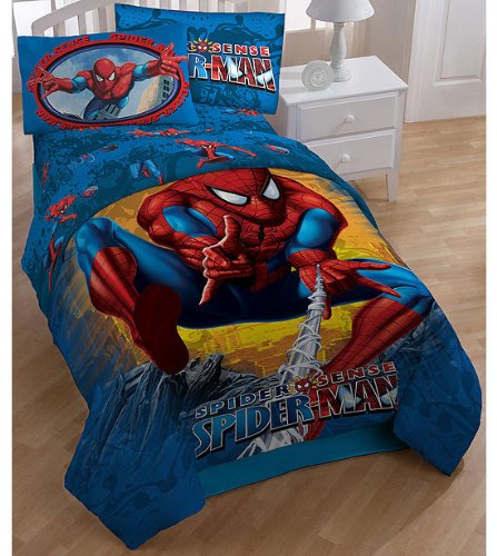 Spiderman Boys Twin Comforter & Sheet Set