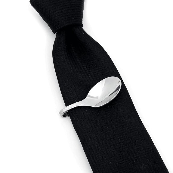 Pebble Spoon Tie Clip