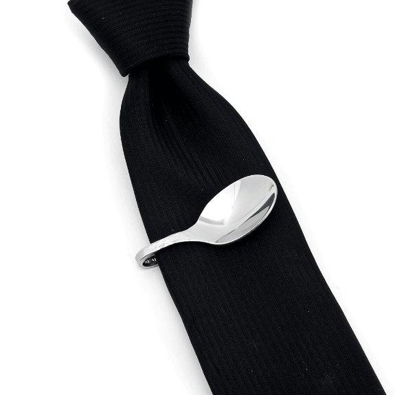 Pebble Spoon Tie Clip