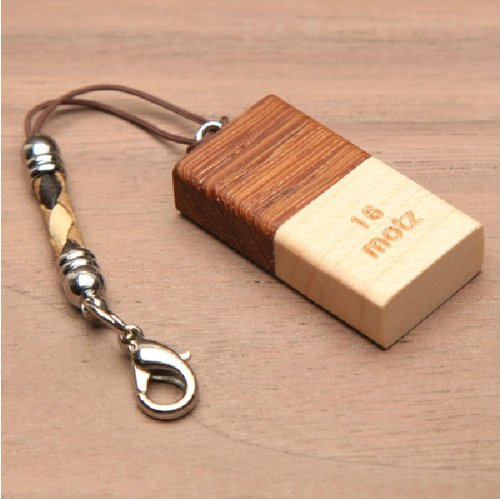 Wooden USB Flash Thumb Drive 16GB Handmade Cap Type