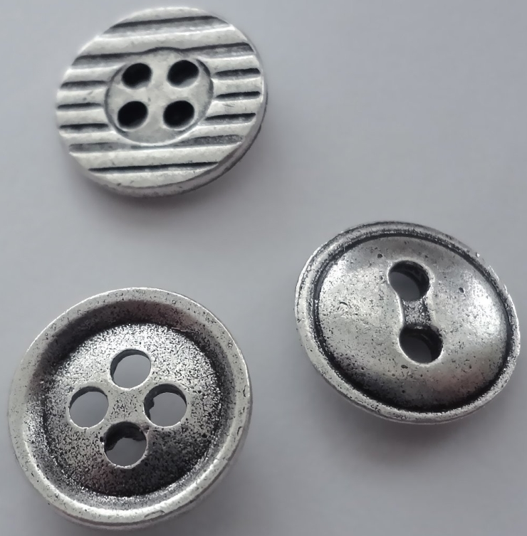 Silver Button Push Pins