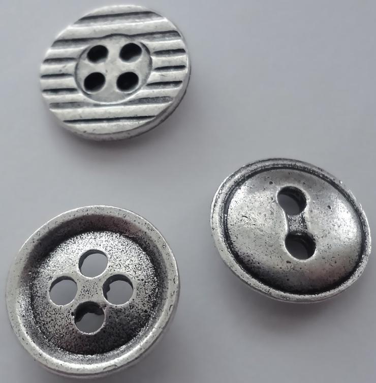 Silver Button Push Pins