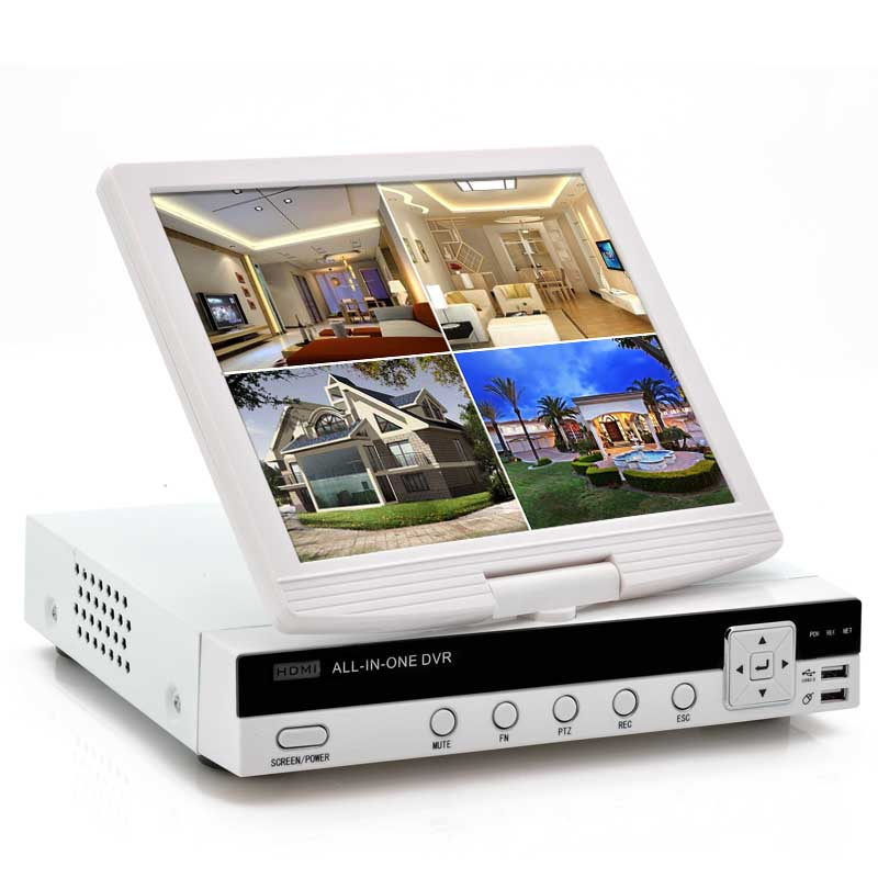 4CH DVR With 10 Inch Screen