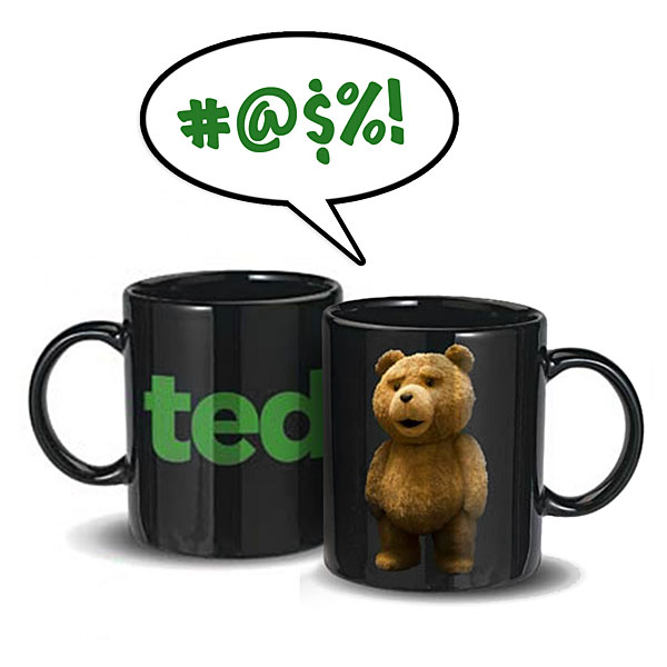 Talking Ted R Rated Talking Mug