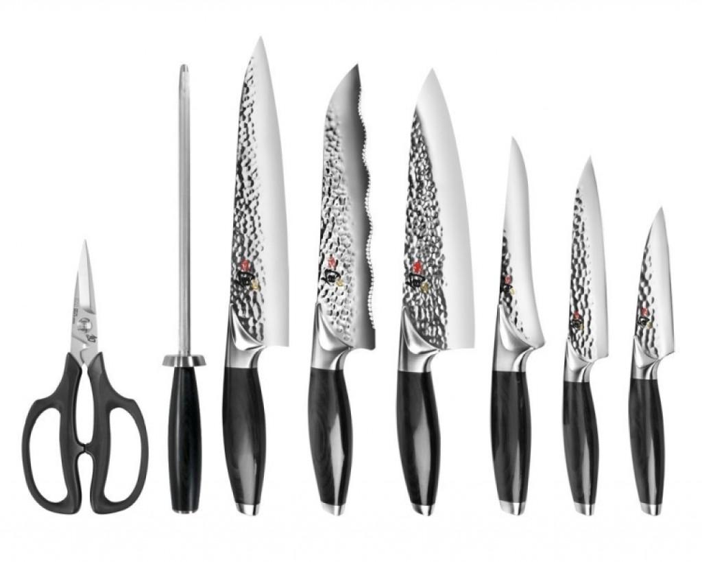 shun edo 9 piece knife block set gadgets matrix
