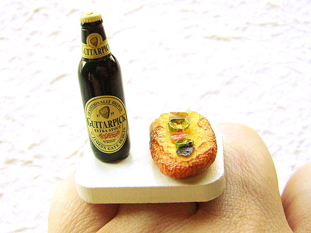 Beer Ring Miniature Food Jewely