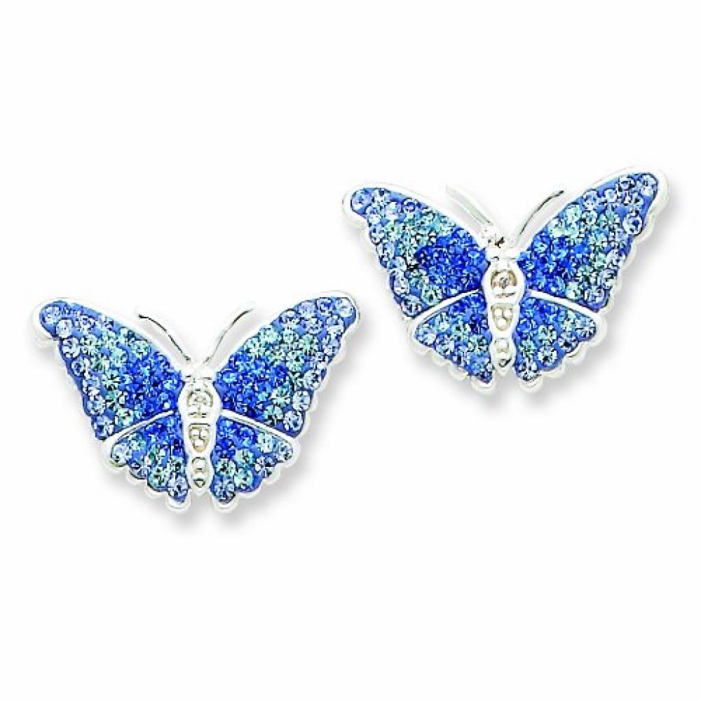 blue butterfly earrings gadgets matrix
