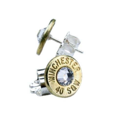 Brass Bullet Head Earrings