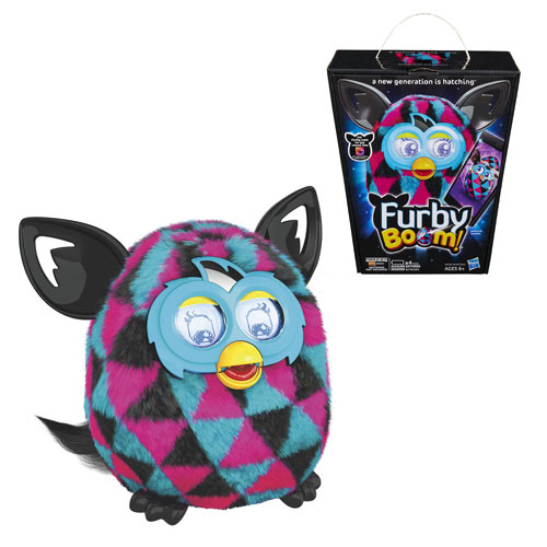 Furby Boom! Black and Pink Triangles Electronic Plush Toy