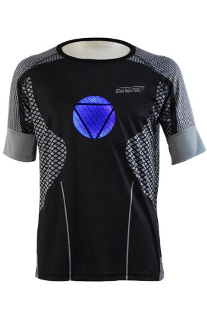 Ironman 3 Shirts with Arc Reactor Replica for Man