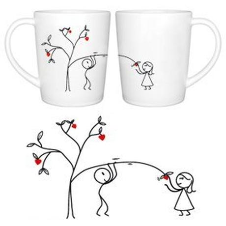 """Love Grows for You"" Couple Coffee Mugs"