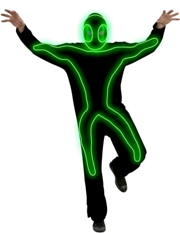 Night Glo Adult Mens & Womens Green Glow in the Dark Costume
