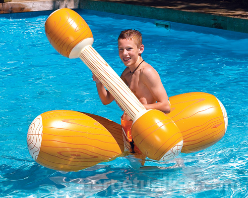 LOG FLUME JOUST POOL FLOAT