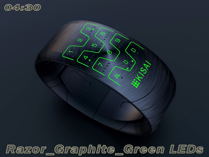 Razor LED watch
