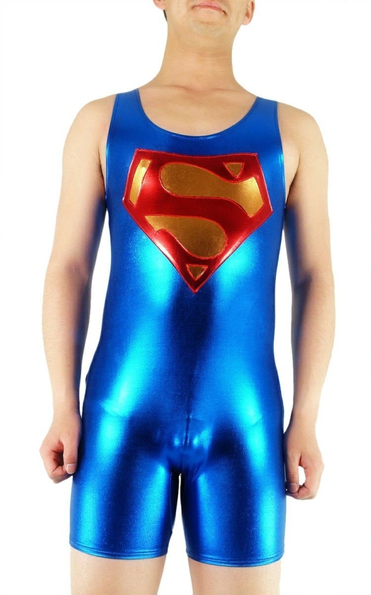 Superhero Blue Short Lycra Unisex Zentai Suit
