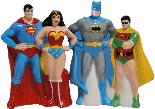 Superheroes Magnetic Ceramic Salt and Pepper Shaker Set