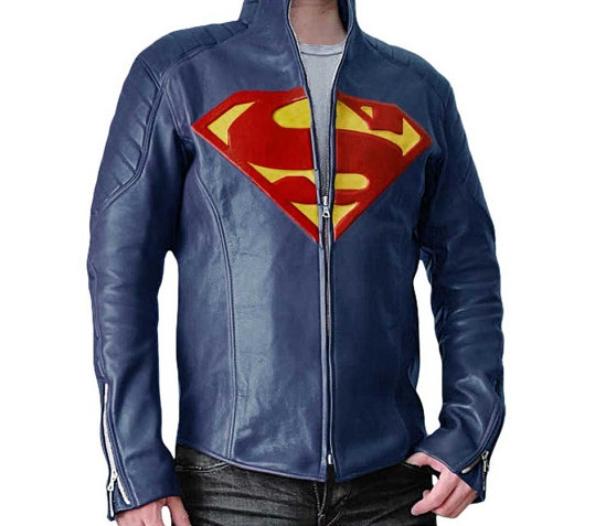Superman Man of Steel Synthetic Leather Shield Jacket