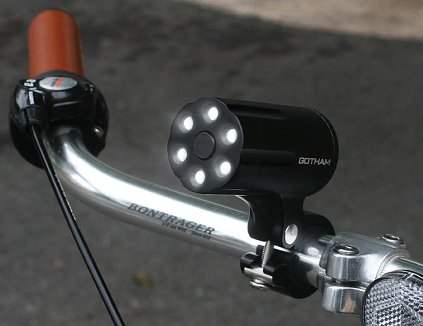 gotham_defender_anti-theft_led_bicycle_light_on_bike