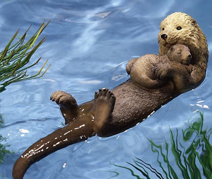 Floating Otter Pond Decoration