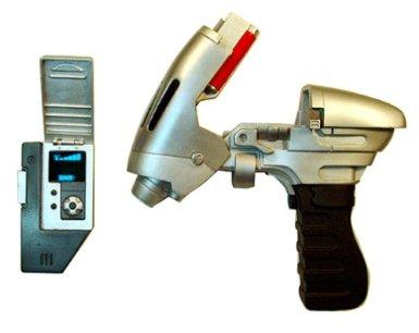 Star Trek Enterprise Trek Tek Phase Pistol & Communicator Set