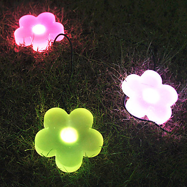 Colour Changing Plastic LED Solar Garden Light in Flower