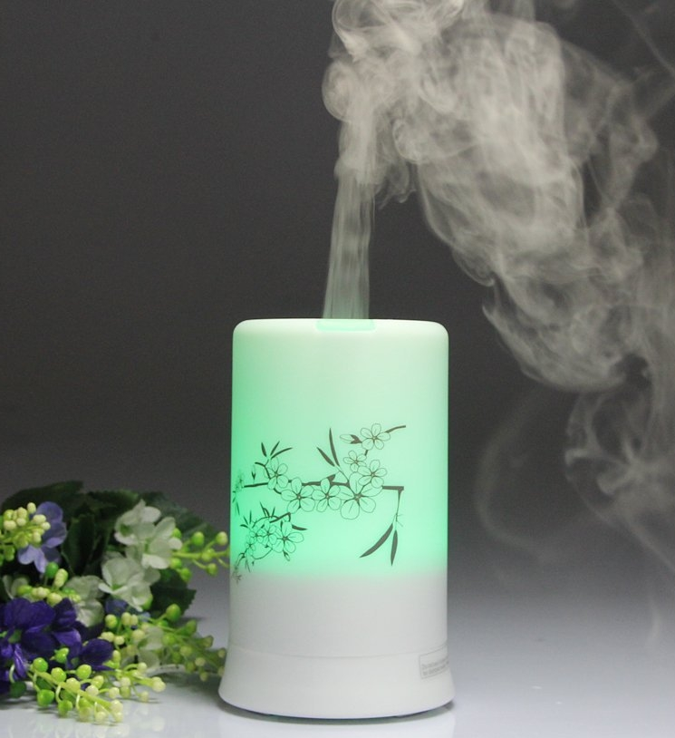 Mini Aroma Atomizer Air Humidifier LED Changing Ultrasonic Purifier Diffuser