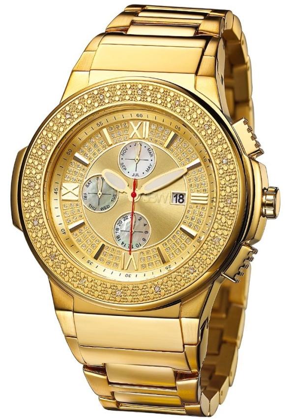 """BW Men's  """"Saxon"""" Gold Diamond Watch"""
