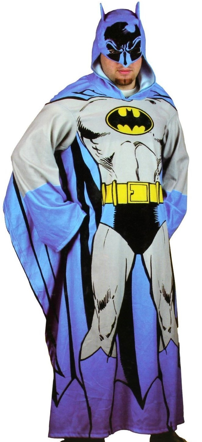 Batman Hooded Cozy Blanket with Sleeves