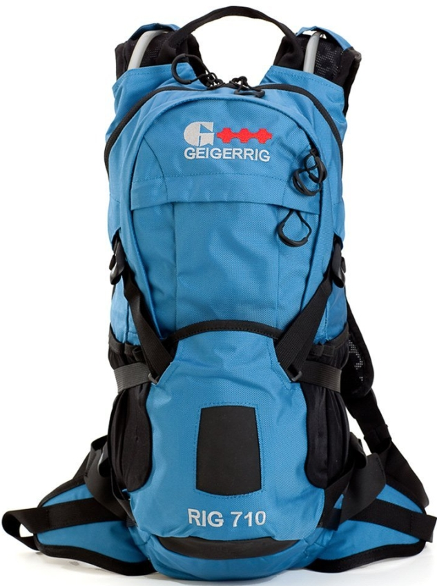 Blue Backpack with 2 Liter Hydration Engine