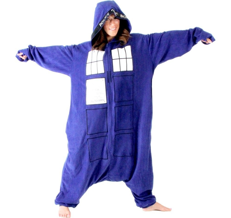 Doctor Who Police Booth Tardis Hooded Kigurumi One Piece Pajama