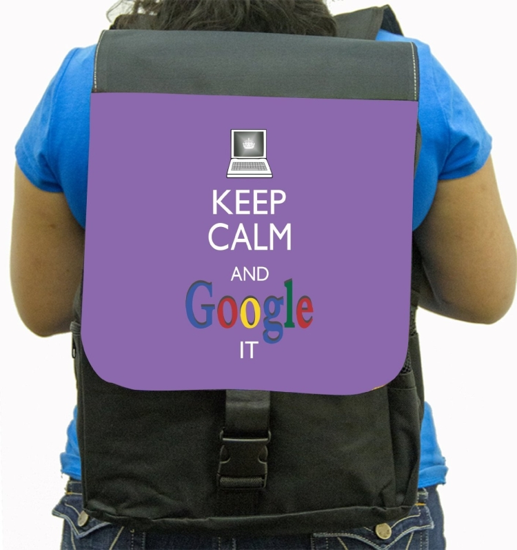 Keep Calm And Google It Voilet Color BackPack