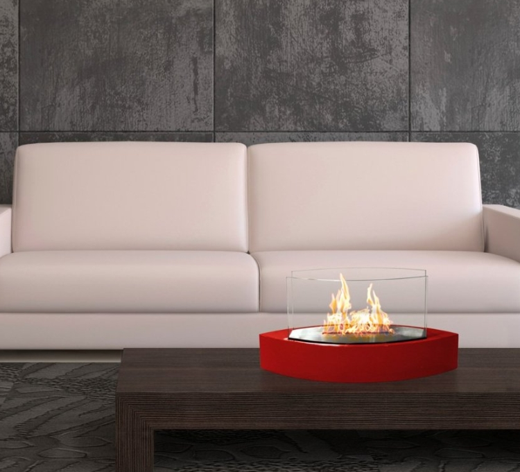 Lexington Tabletop Ethanol Fireplace in Red