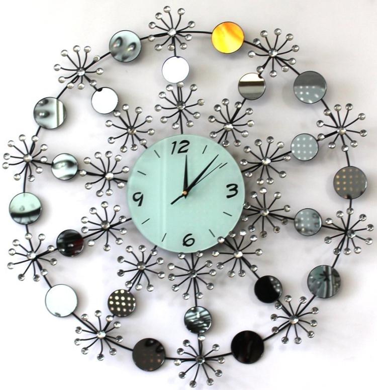 Modern Mirror and Acrylic Decoration Wall Clock
