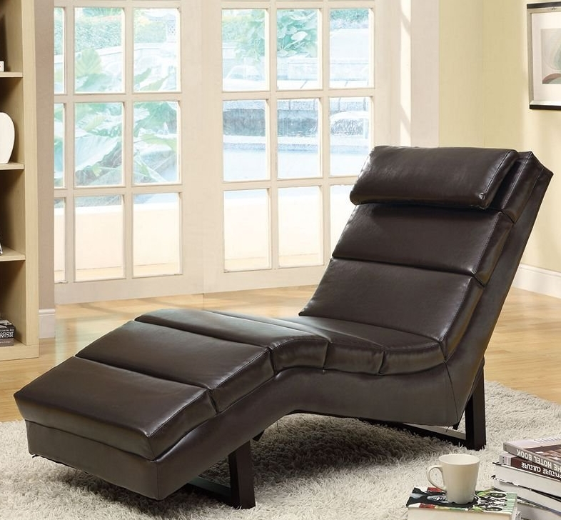 Monarch Faux Leather Chaise Lounger