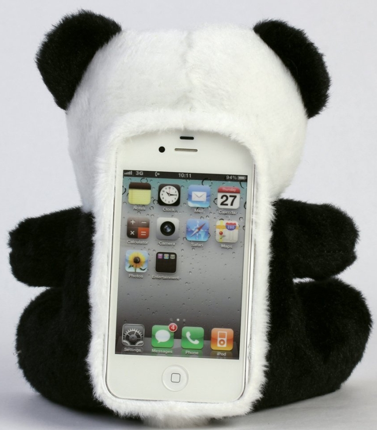 Panda Toy Cell Phone Case for iPhone 5 5G : Gadgets Matrix