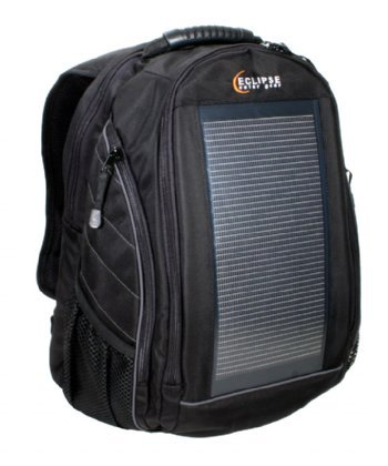 Solar Panel Black/Gray Thin Film Solar Mobile Charging Backpack