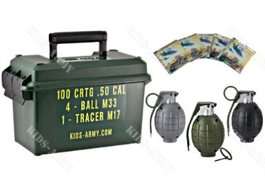 Toy Grenades & Ammo Can Set