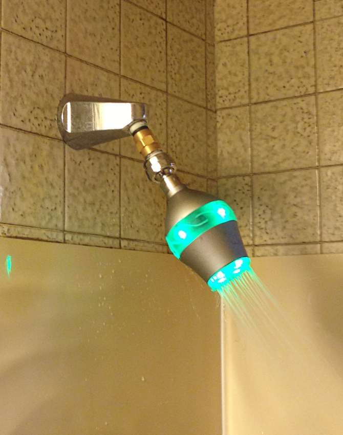 Shower Head Lets You Know When You are Taking Too Long in the Bathroom