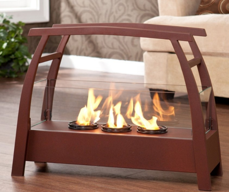 avsilis Portable IndoorOutdoor Gel Fuel Fireplace