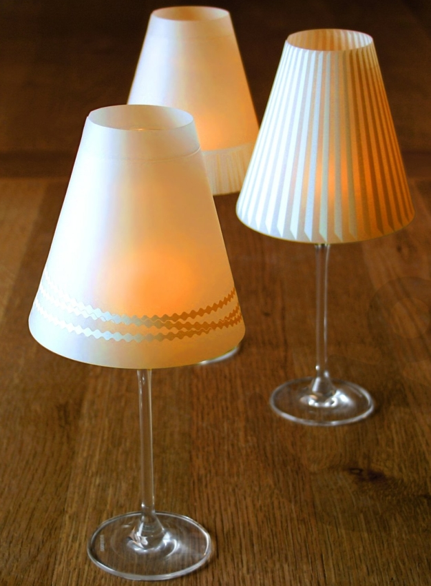 3 Enchanting Lampshades for Wine Glasses with Tea Lights