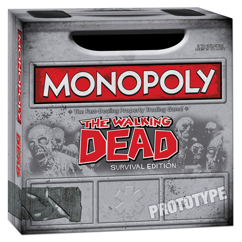 The Walking Dead Comic Survival Edition Monopoly Game