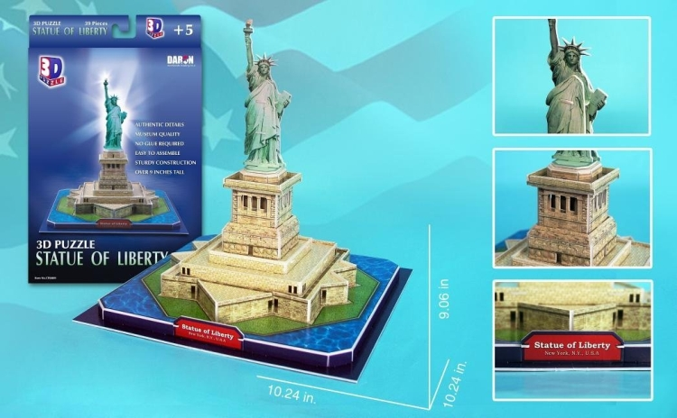 Daron Statue of Liberty 3D Puzzle Piece