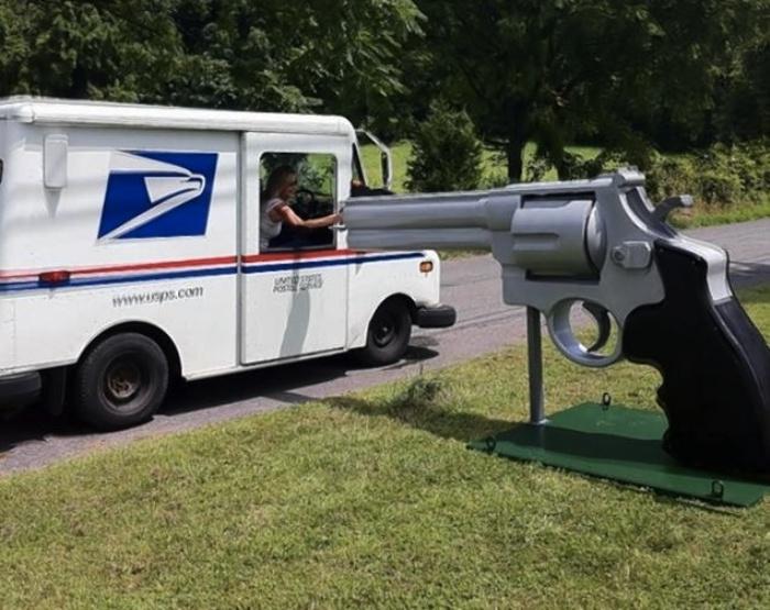 Gun-Mailbox