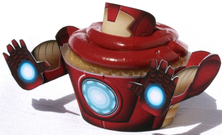 Iron Man - Inspired Cupcake Wrapper